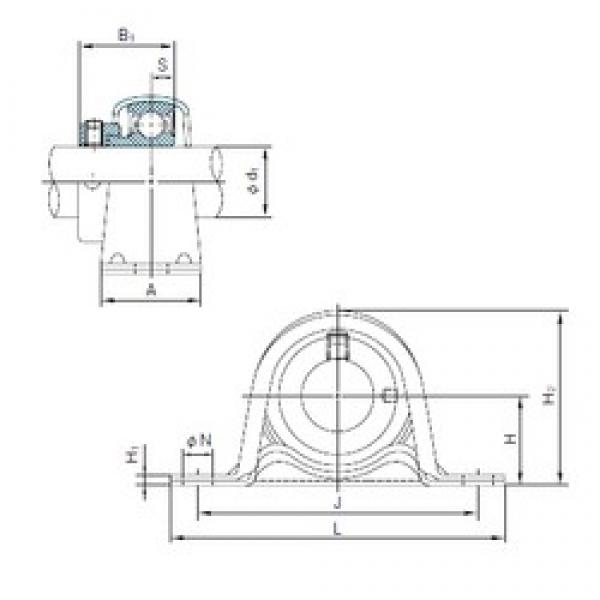 NACHI UCF319 bearing units #3 image