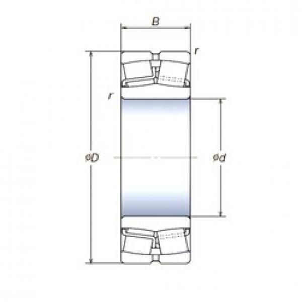 110 mm x 200 mm x 53 mm  NSK 22222SWREAg2E4 spherical roller bearings #3 image