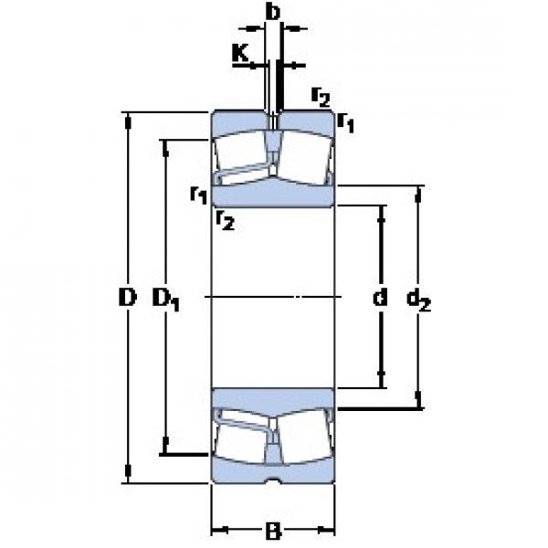100 mm x 215 mm x 73 mm  SKF 22320 EJA/VA405 spherical roller bearings #3 image