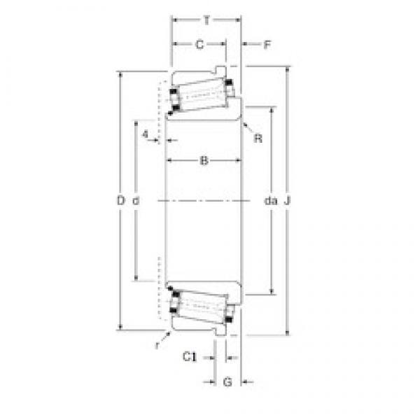 101,6 mm x 180 mm x 46 mm  Gamet 180101X/180180C tapered roller bearings #3 image