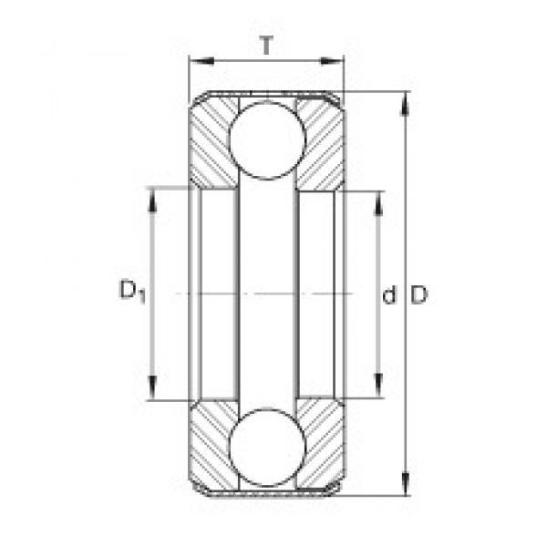 INA D25 thrust ball bearings #1 image