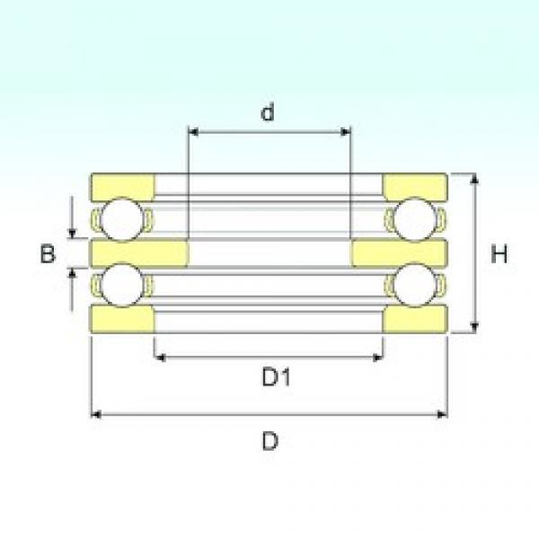 25 mm x 52 mm x 7 mm  ISB 52206 thrust ball bearings #1 image