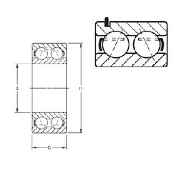 35 mm x 72 mm x 26,97 mm  Timken 5207KG angular contact ball bearings #3 image