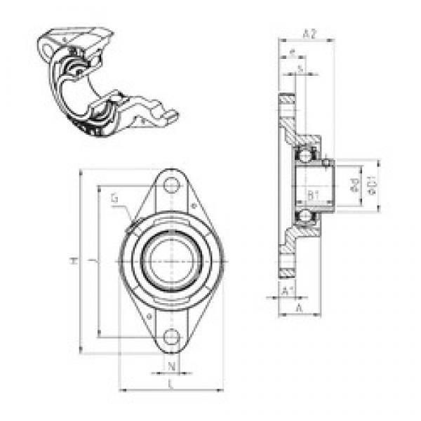 SNR USFLE206 bearing units #3 image
