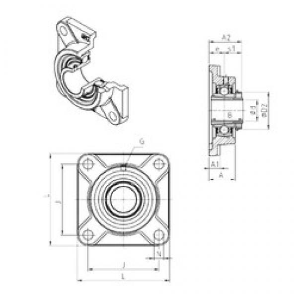 SNR UKF306H bearing units #3 image