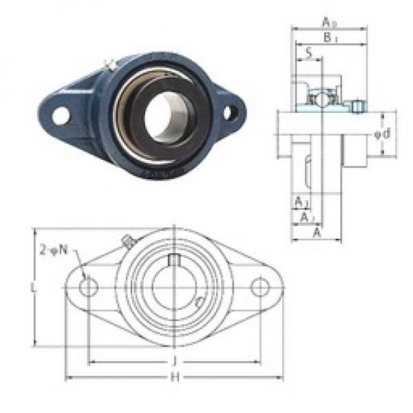 FYH NANFL208-25 bearing units #3 image