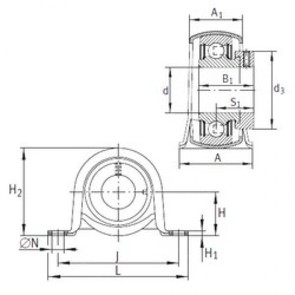 INA PB17 bearing units #3 image