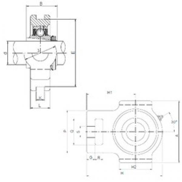 ISO UKT212 bearing units #3 image