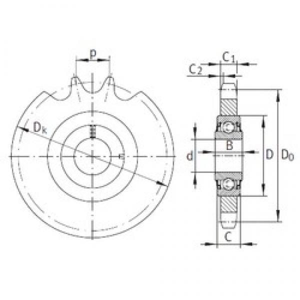 25 mm x 52 mm x 21 mm  INA KSR25-L0-20-10-13-15 bearing units #1 image