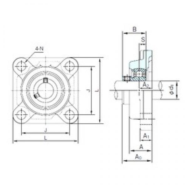 NACHI BF205 bearing units #3 image
