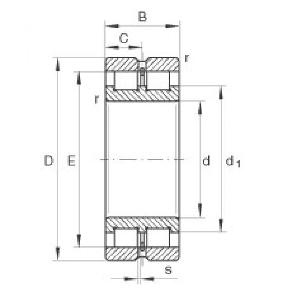 70 mm x 100 mm x 30 mm  INA SL024914 cylindrical roller bearings #3 image