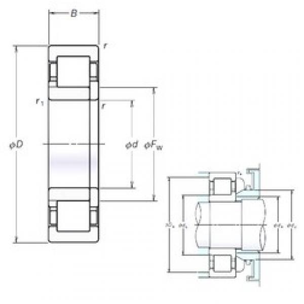 110 mm x 200 mm x 53 mm  NSK NUP2222EM cylindrical roller bearings #3 image