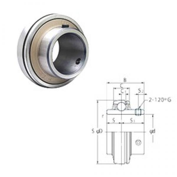 76,2 mm x 160 mm x 82 mm  FYH UC315-48 deep groove ball bearings #3 image