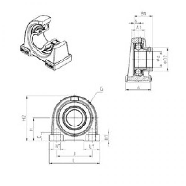SNR ESPAE203 bearing units #1 image