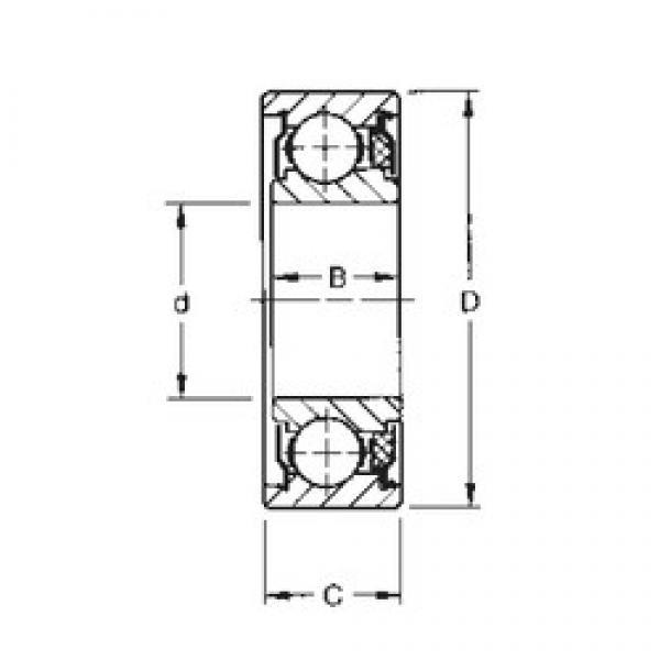 12 mm x 32 mm x 12,19 mm  Timken 201KTD deep groove ball bearings #3 image
