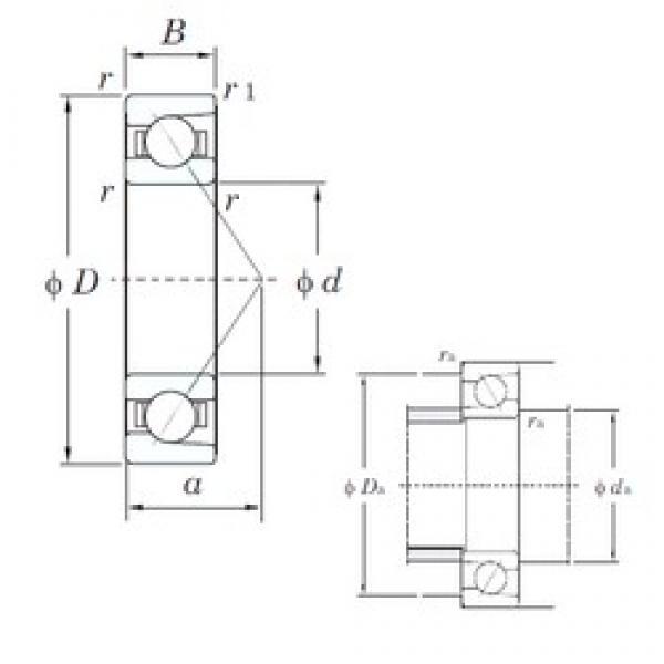 15 mm x 32 mm x 9 mm  KOYO 7002B angular contact ball bearings #3 image