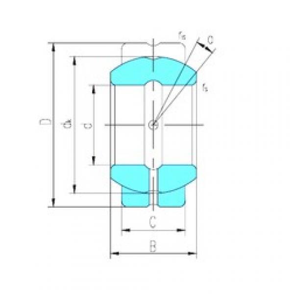 57,15 mm x 100,013 mm x 58,877 mm  LS GEGZ57ES-2RS plain bearings #3 image