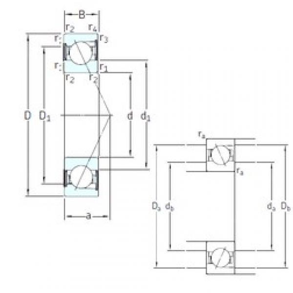 140 mm x 250 mm x 42 mm  SKF S7228 ACD/P4A angular contact ball bearings #3 image