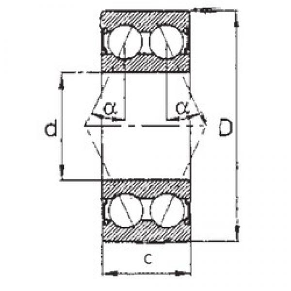 60 mm x 130 mm x 54 mm  FBJ 5312-2RS angular contact ball bearings #3 image