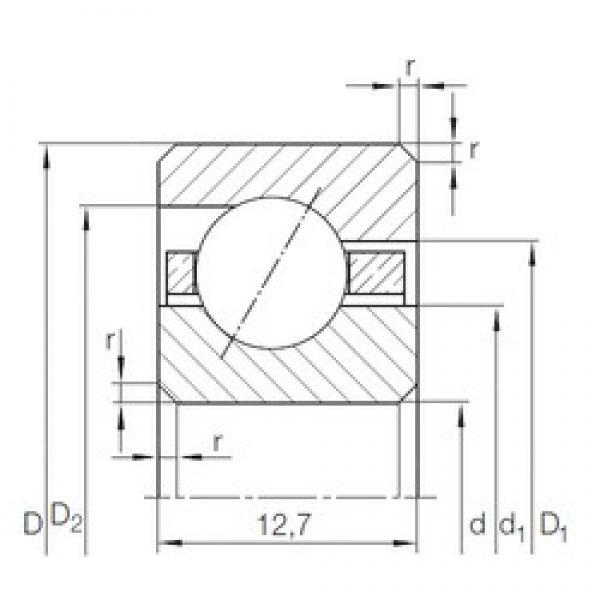 279,4 mm x 304,8 mm x 12,7 mm  INA CSED 1103) angular contact ball bearings #3 image