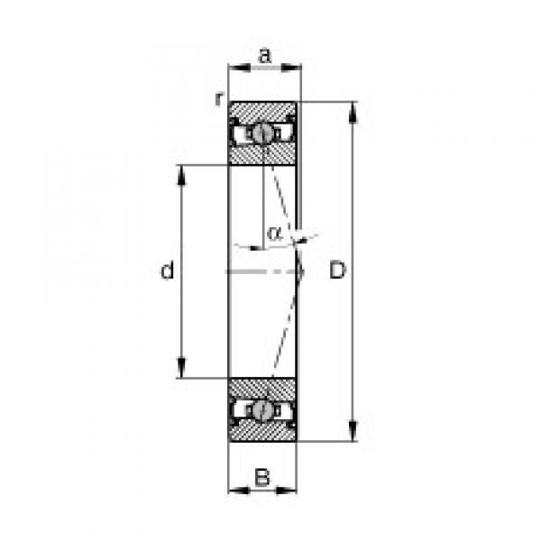 95 mm x 130 mm x 18 mm  FAG HCS71919-C-T-P4S angular contact ball bearings #3 image
