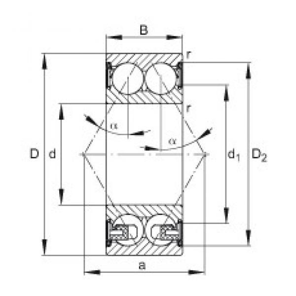 40 mm x 80 mm x 30,2 mm  FAG 3208-BD-2Z-TVH angular contact ball bearings #3 image