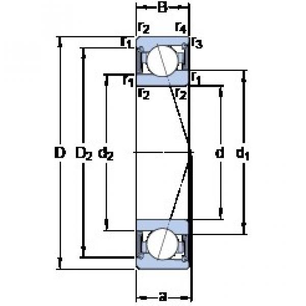 20 mm x 37 mm x 9 mm  SKF S71904 ACE/P4A angular contact ball bearings #3 image