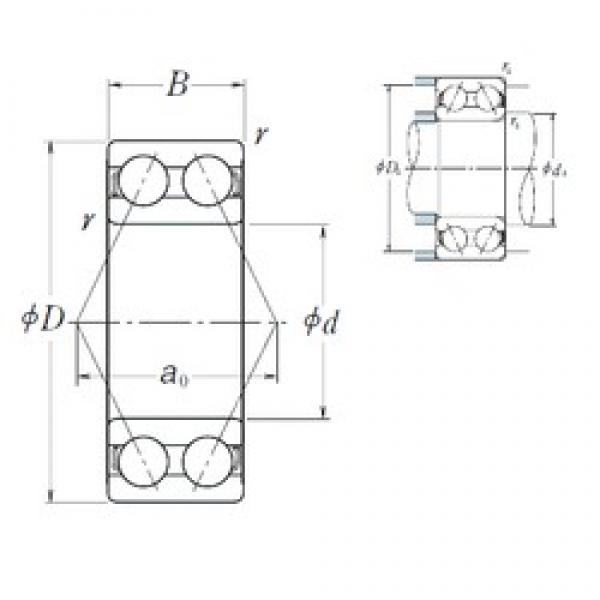 35 mm x 80 mm x 34,9 mm  NSK 5307 angular contact ball bearings #1 image