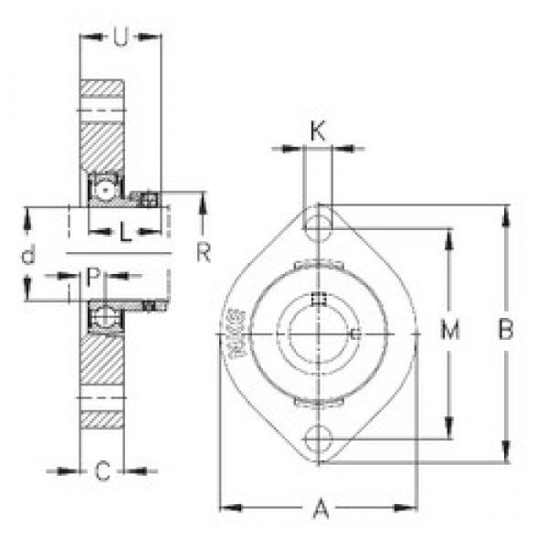 NKE FLCTE17 bearing units #3 image