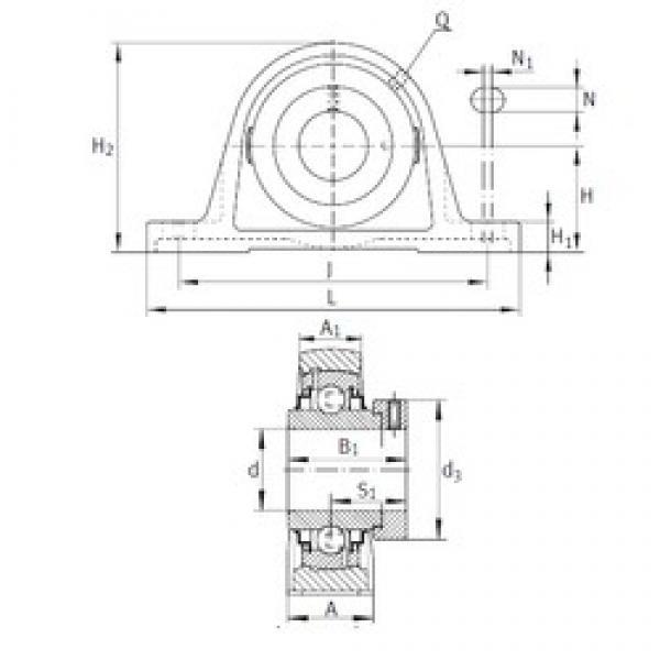 INA RAK1/2 bearing units #3 image