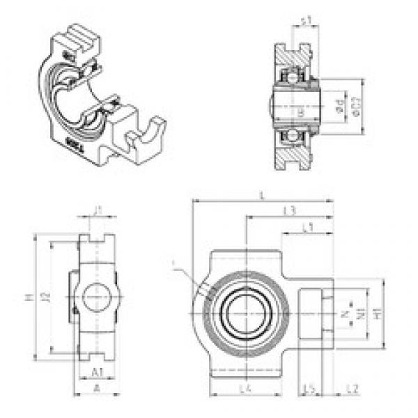 SNR UKT326H bearing units #3 image