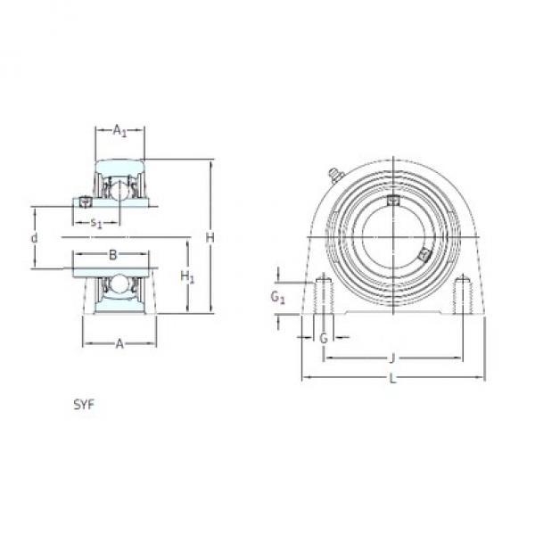 SKF SYF 40 FM bearing units #3 image