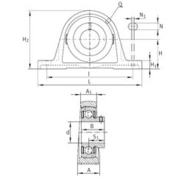 INA PASEY3/4 bearing units #3 image