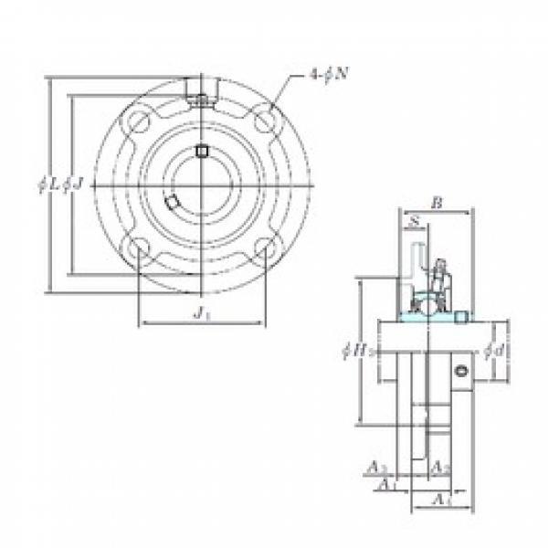 KOYO UCFCX15E bearing units #3 image