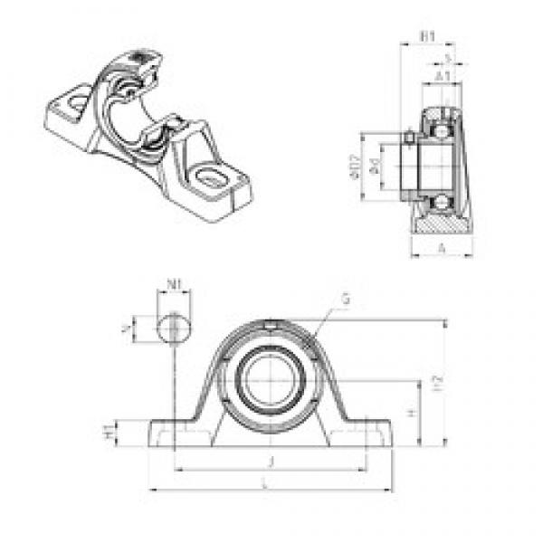 SNR ESPLE204 bearing units #3 image