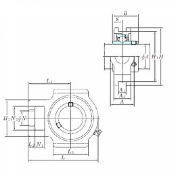KOYO UCST208H1S6 bearing units #3 image