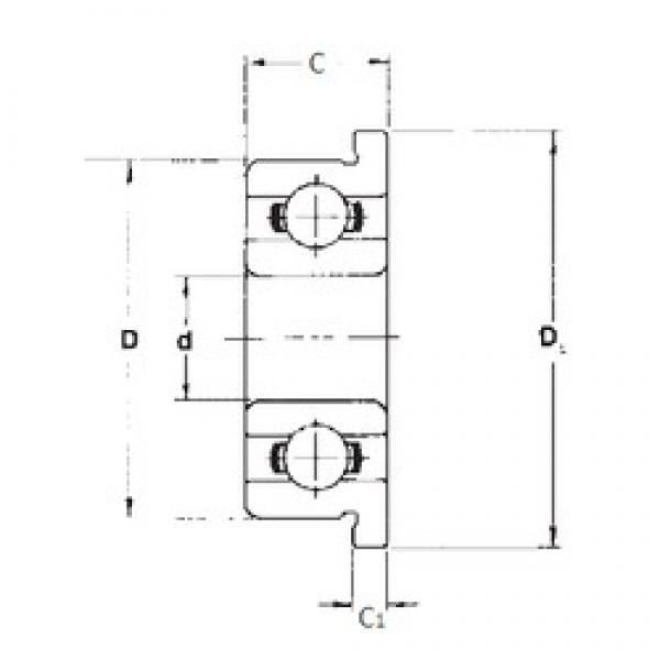 2 mm x 5 mm x 1,5 mm  FBJ F682 deep groove ball bearings #3 image