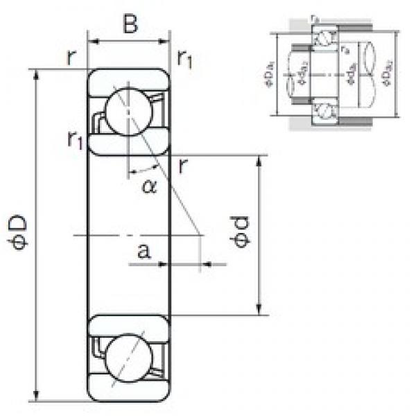 100 mm x 180 mm x 34 mm  NACHI 7220B angular contact ball bearings #3 image