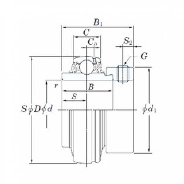 65 mm x 120 mm x 68,2 mm  KOYO NA213 deep groove ball bearings #3 image