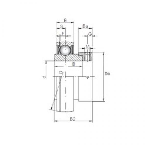 15 mm x 40 mm x 19,1 mm  ISO SA202 deep groove ball bearings #3 image