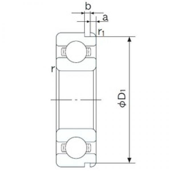 25 mm x 37 mm x 7 mm  NACHI 6805N deep groove ball bearings #3 image