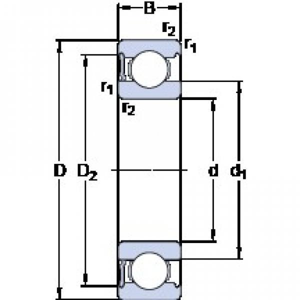 95 mm x 200 mm x 45 mm  SKF 6319-RS1 deep groove ball bearings #3 image