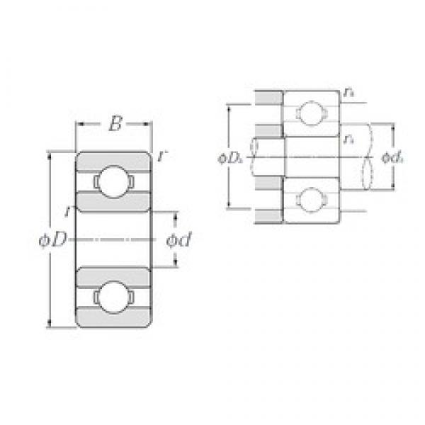 1,5 mm x 6 mm x 2,5 mm  NTN 60/1,5 deep groove ball bearings #3 image