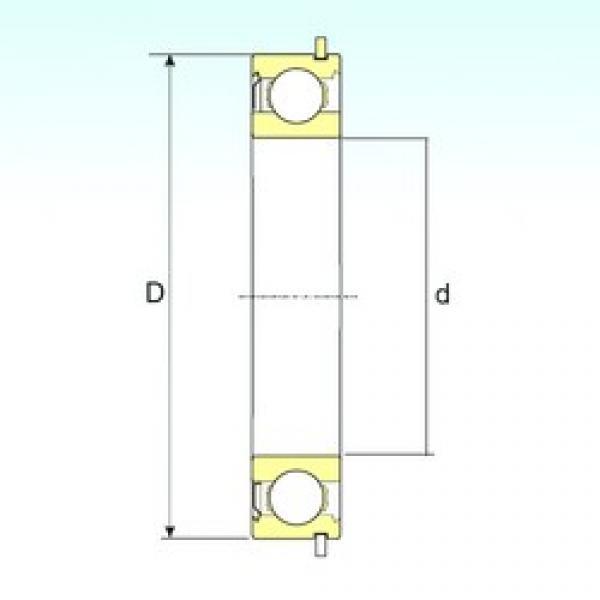 45 mm x 100 mm x 25 mm  ISB 6309-ZNR deep groove ball bearings #3 image