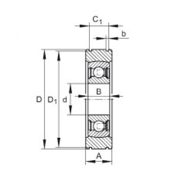 INA BE30 deep groove ball bearings #3 image
