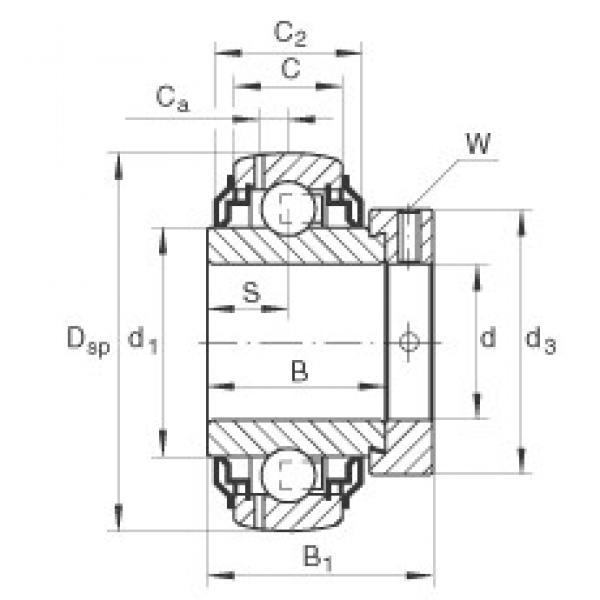 INA GE40-KRR-B-2C deep groove ball bearings #3 image