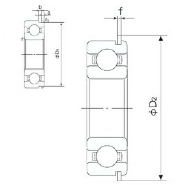 90 mm x 160 mm x 30 mm  NACHI 6218NR deep groove ball bearings #3 image