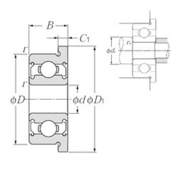 4 mm x 13 mm x 5 mm  NTN FL624ZZ deep groove ball bearings #3 image