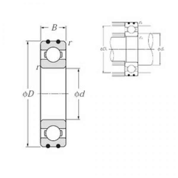 10 mm x 35 mm x 11 mm  NTN AC-6300 deep groove ball bearings #3 image