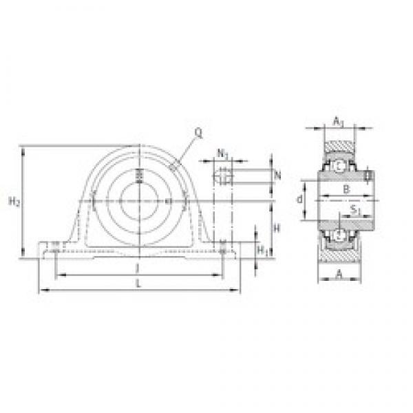 INA RASEY55 bearing units #3 image